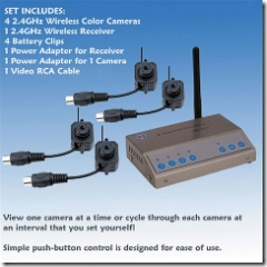 Wireless Mini Set-Of 4 Spy Cams