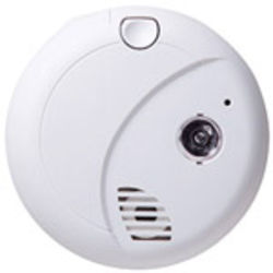 SecureGuard Battery Powered First Alert Smoke Detector Spy Camera