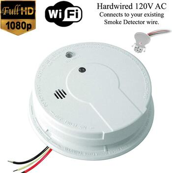 K12040 1080p Wifi Smoke Detector Spy Camera