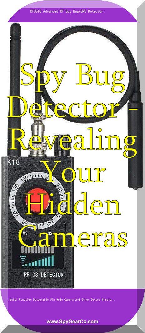RF0518 Advanced RF Spy Bug/GPS Detector