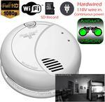 SecureGuard DC / AC Powered Night Vision Invisible IR Smoke Detector Spy Camera (Wi-Fi