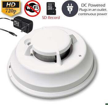 Secureguard Dc Powered Commercial Grade Smoke Detector Spy