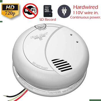Secureguard Ac Hardwired Smoke Detector Spy Camera