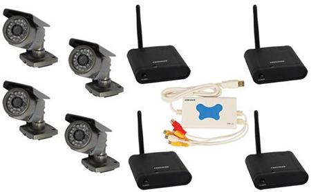 4 Channel Wireless USB DVR Surveillance System