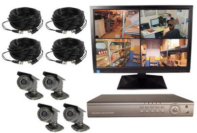 Digital Video Surveillance - 4 Channel Wired Recording System