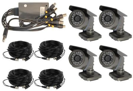 4 Channel Wired USB DVR Complete System