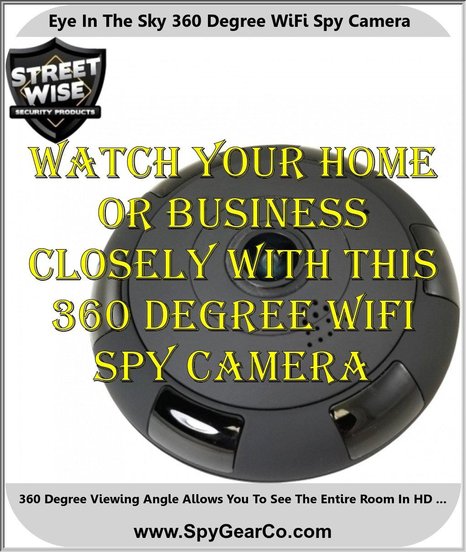 Eye In The Sky 360 Degree WiFi Spy Camera