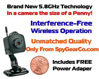 Mini 5.8GHz Wireless Color Spy Camera