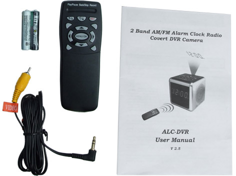 spy clock camera instructions