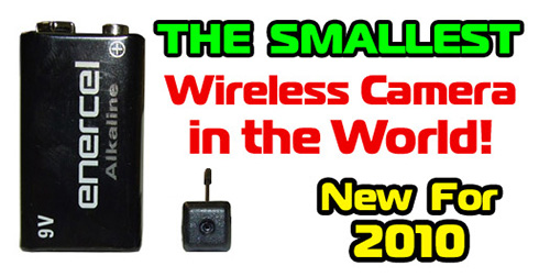 World's SMALLEST Wireless 2.4GHz Color Spy Camera
