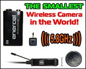 2010 World's SMALLEST Wireless Spy Camera - 5.8GHz Color