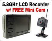 Micro 5.8GHz LCD Recorder w/ Remote & FREE Mini Spy Cam