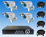 4 Wired Hi-Res 420LOR CCD Surveillance Cameras w/ 250GB H.264 Network DVR