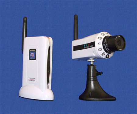 Wireless 2.4GHz CCD Low-Light Camera Set