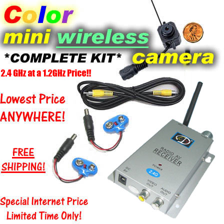 Color Mini Wireless Spy Camera