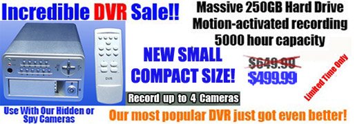 Standard 4 Camera DVR w/ 250GB HDD