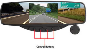 rear view mirror hidden camera