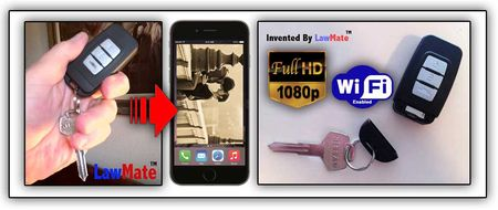 LawMate Key Chain 1080p Covert Video Recorder w/WiFi