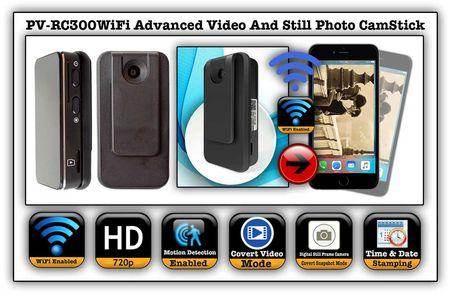 Advanced Mini WiFi Video/Still Photo CamStick Spy Camera/DVR
