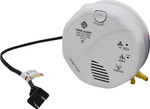 Wi-Fi Hardwired Smoke Detector with Night Vision