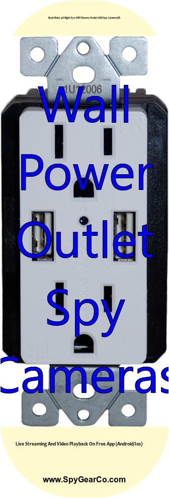Bush Baby 4K Night Eye WiFi Decora Outlet USB Spy Camera/DVR