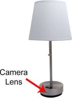 OmniEye Lamp Spy Camera/DVR