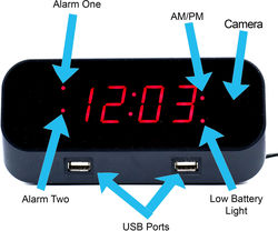Bush Baby Wifi Alarm Clock Spy Camera/DVR