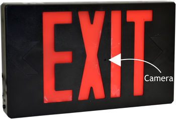 Bush Baby 4K WiFi Exit Sign Spy Camera/DVR