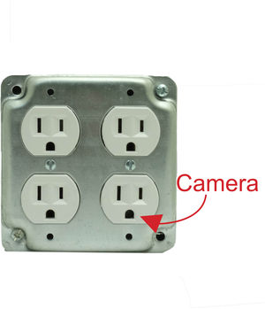Bush Baby Quad AC Receptacle Hi-Def WiFi Spy Camera/DVR