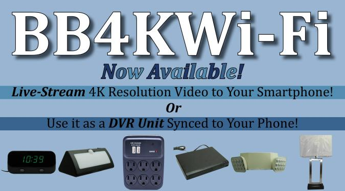 WIFI Inside & Outside Super High Resolution 4K Cameras