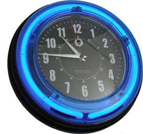 Bush Baby Neon Clock IP Spy Camera