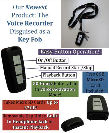 Key Chain/FOB Voice Recorder