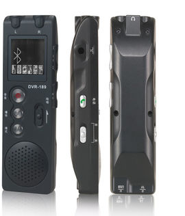 Voice Recorder with Dual Mics and Bluetooth