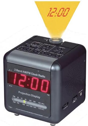 Nitespy 520 Dual Band AM/FM Clock Radio with DVR