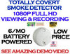 SecureShot 1080p Hi-Def<br>Smoke Detector Spy Cam/DVR