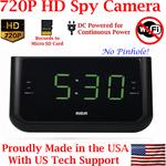 SecureGuard HD 720p Alarm Clock Radio Covert Spy Camera/DVR
