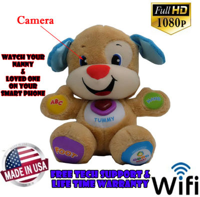 Bush Baby Hi-Def Dog<br>Spy Camera/DVR w/WiFi