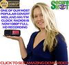 SecureShot Clock Radio<br>HD 1080p Spy Cam/DVR