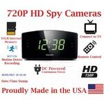 SecureGuard HD 720P 100% Covert Alarm Clock Radio Spy Camera