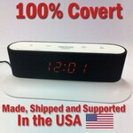 SecureGuard HD 720p Onn Alarm Clock Radio Spy Camera w/DVR