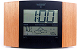 Thermally Motion Activated, Battery Operated Atomic Wall/Desk Clock DVR