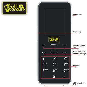 CellCorder Digital Cell Phone Voice Recorder
