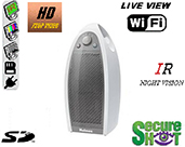 Secure Shot HD Live View Mini Tower Air Purifier Spy Camera/DVR