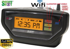 SecureShot HD Live View Weather Alert Alarm Clock Radio Spy Camera/DVR w/Nightvision