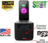 SecureShot HD Live View Ihome Cube Clock Radio Spy Camera/DVR