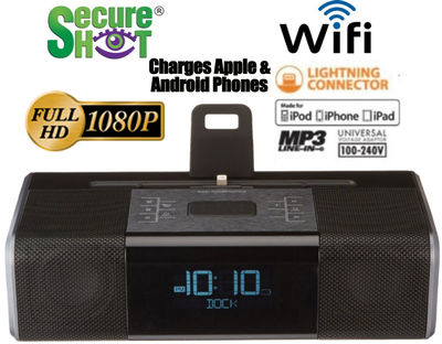 Secure Shot HD Live View IPod Dock Spy Camera/DVR