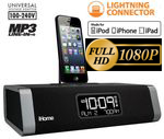 SecureShot Iphone 5 Clock Radio/Docking Station