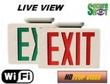 Secure Shot HD Live View Exit Signr Spy Camera/DVR