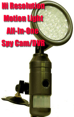 Hi Resolution Motion Light Spy Cam/DVR