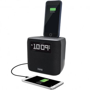 SecureShot 1080P Lighting Dock Ihome Cube Clock Radio Spy Camera/DVR